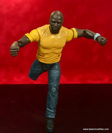 marvel legends luke cage and claire figure review - cage running