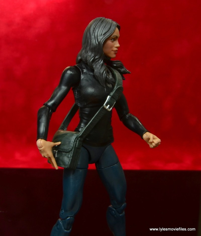 marvel legends luke cage and claire figure review -claire temple purse close up