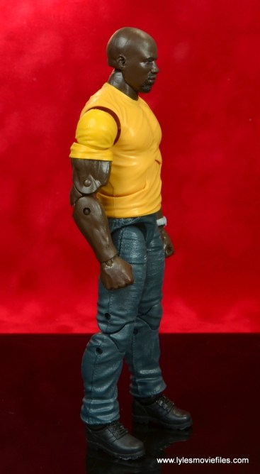 marvel legends luke cage and claire figure review -luke cage right side