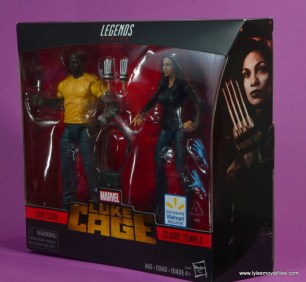 marvel legends luke cage and claire figure review -package left side