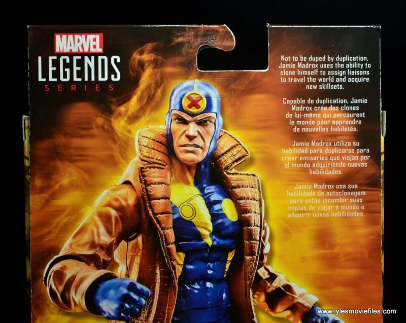 marvel legends multiple man figure review - package bio