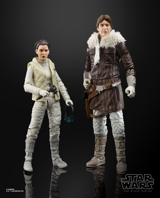 star wars black international con exclusive han and leia -side by side