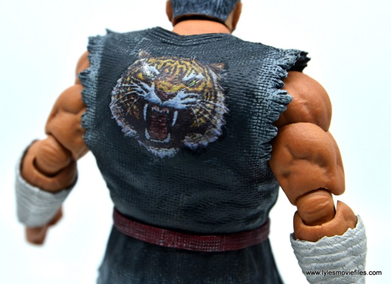 Storm Collectibles Heihachi Mishima figure review -tiger detail close up