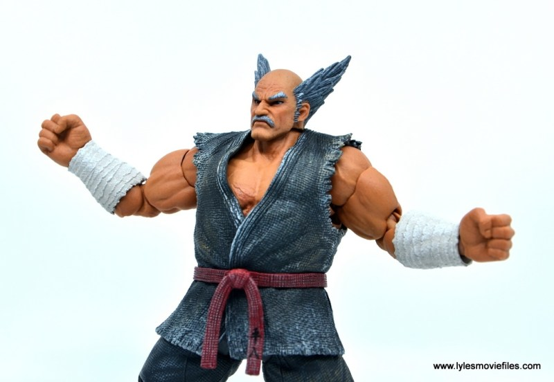 Storm Collectibles Heihachi Mishima figure review -wide stance chest detail
