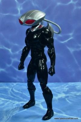 dc essentials black manta figure review -left side