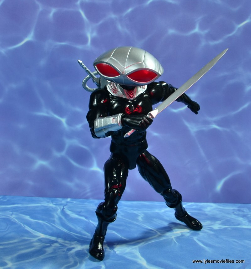dc essentials black manta figure review -on the attack