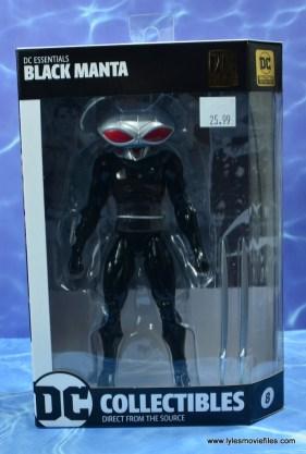 dc essentials black manta figure review - package front