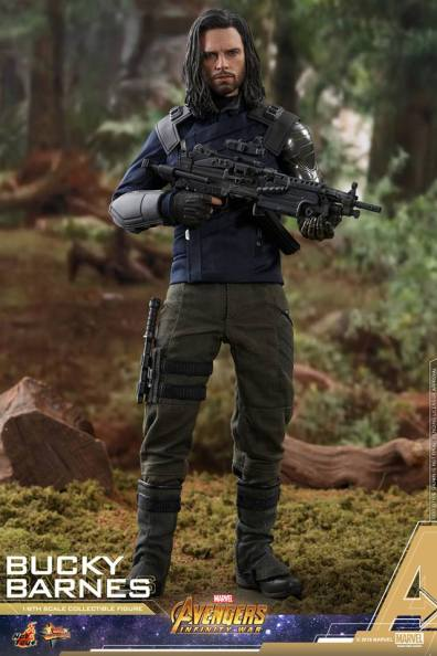 hot toys avengers infinity war bucky barnes figure -long shot