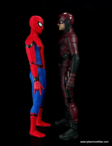 hot toys daredevil figure review - scale with spider-man