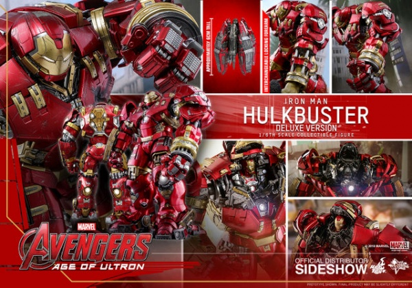 hot toys hulkbuster iron man deluxe version figure - collage