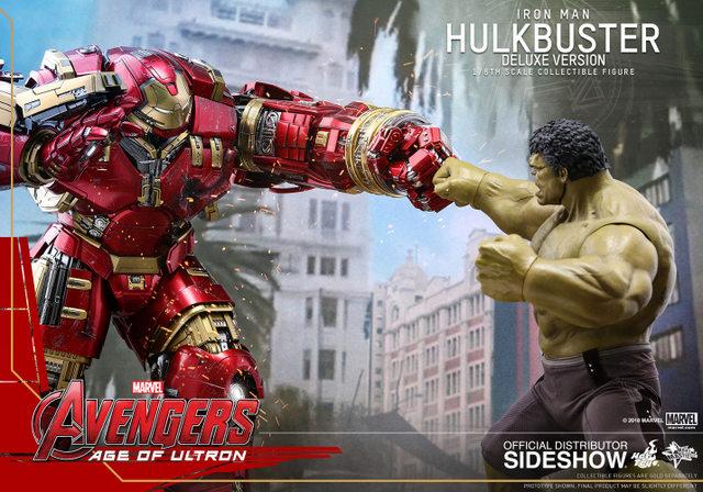 hot toys hulkbuster iron man deluxe version figure - vs hulk