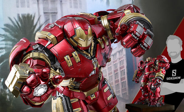 hot toys hulkbuster iron man deluxe version figure -wide shot