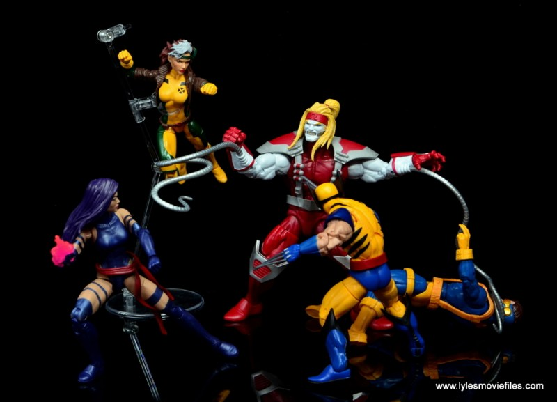 marvel legends omega red figure review - vs the x-men blue team