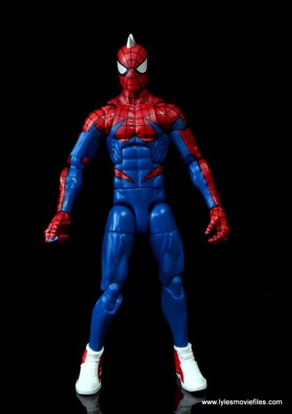 marvel legends spider-punk figure review - front with no vest