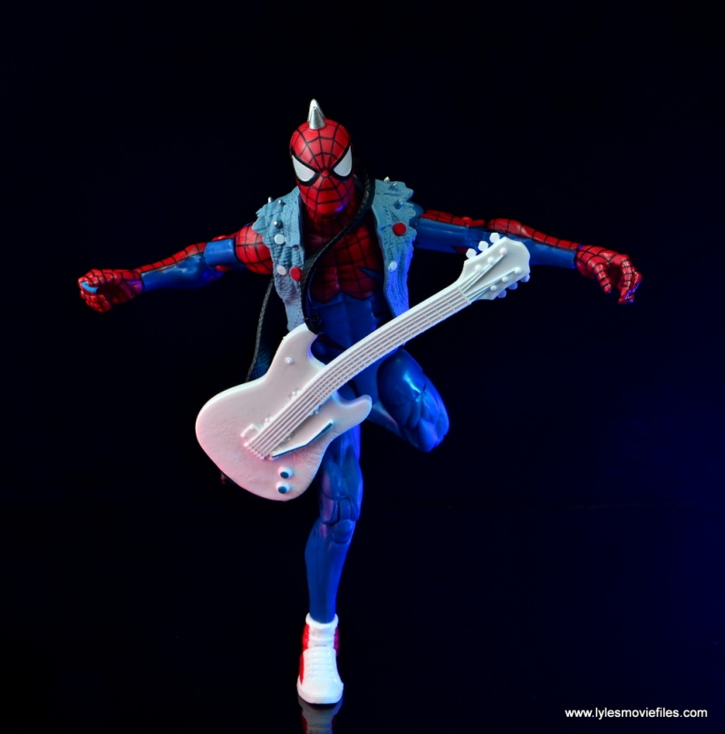 marvel legends spider-punk figure review - on the run