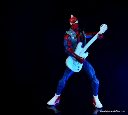 marvel legends spider-punk figure review - playing