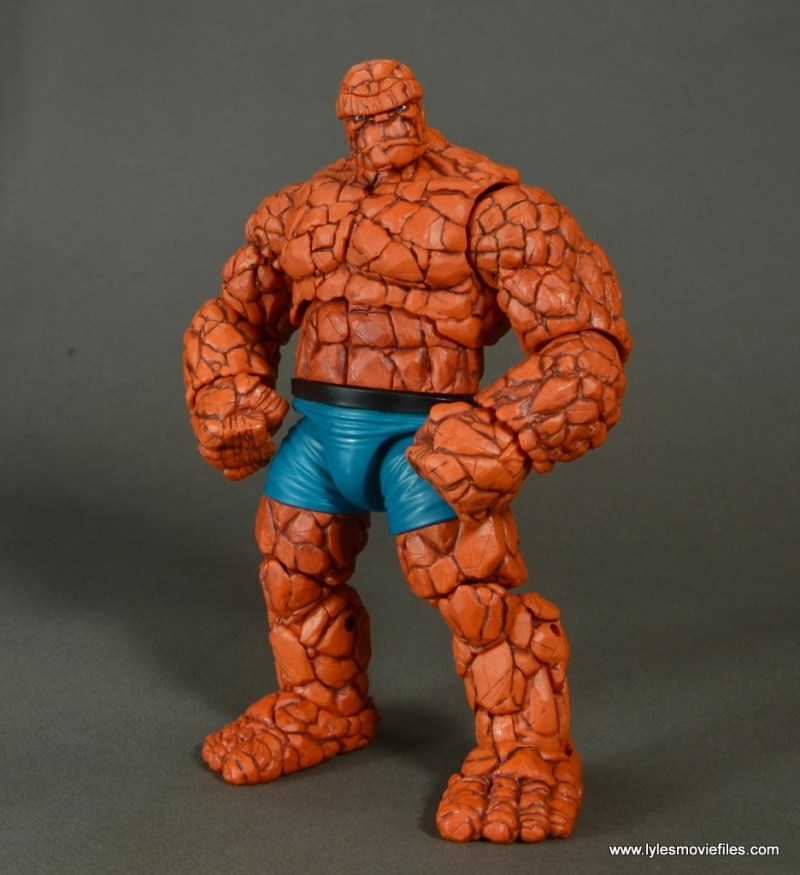 marvel legends the thing figure review - hands on hips