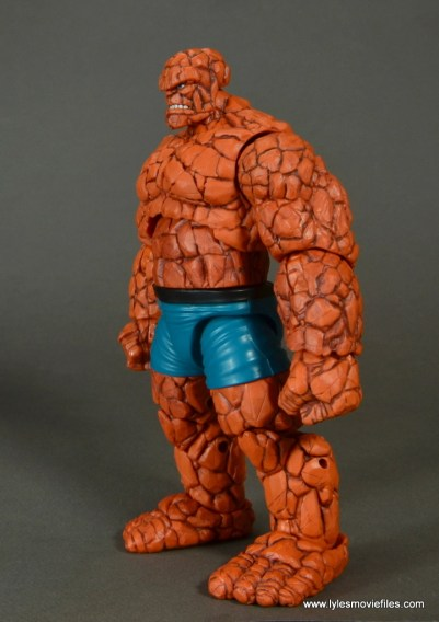 marvel legends the thing figure review - left side
