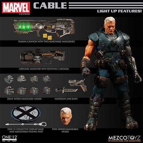 mezco toyz cable one 12 figure - accessories