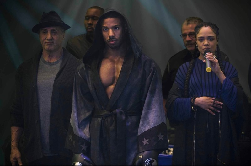 creed II movie review - rocky, lil Duke, Adonis and Bianca