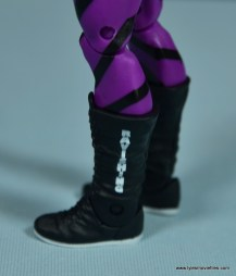 WWE Flashback Basic Rick Rude figure review - left boot detail