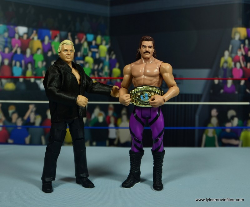 WWE Flashback Basic Rick Rude figure review - with IC title