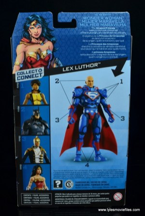 dc multiverse wonder woman figure review -package rear