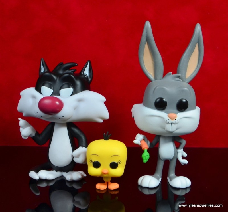 funko pop bugs bunny sylvester and tweety figure review - wide shot