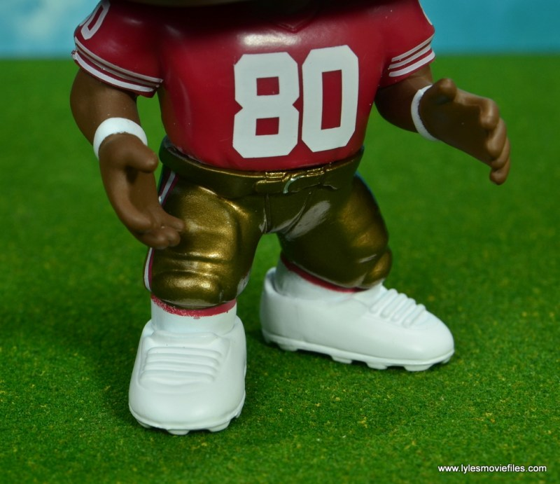 funko pop jerry rice figure review -cleats detail