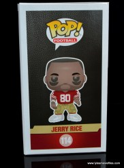 funko pop jerry rice figure review - package side