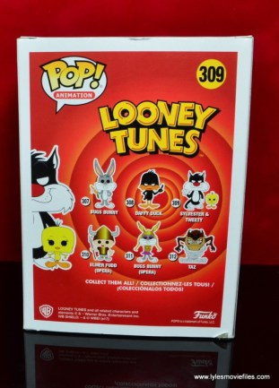 funko pop sylvester and tweety figure review -package rear