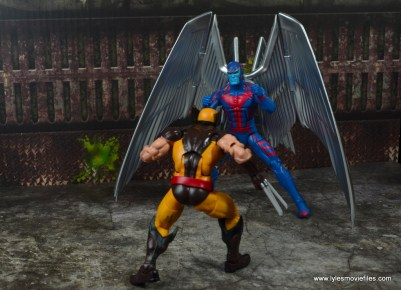 marvel legends archangel figure review - about to fight wolverine