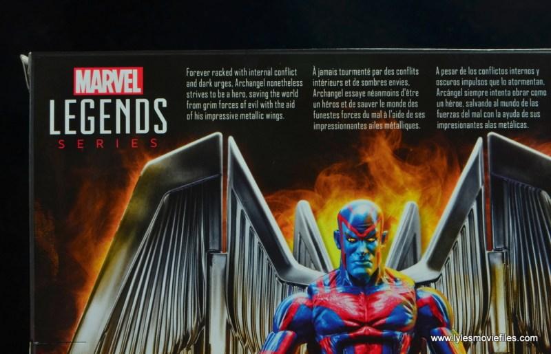 marvel legends archangel figure review - package bio