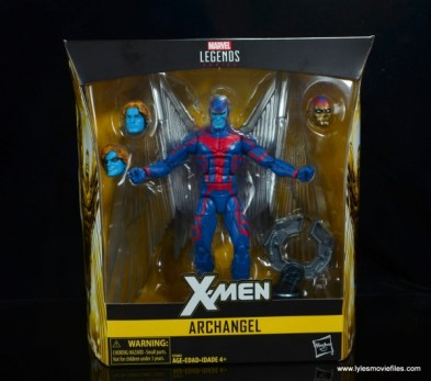 marvel legends archangel figure review - package front