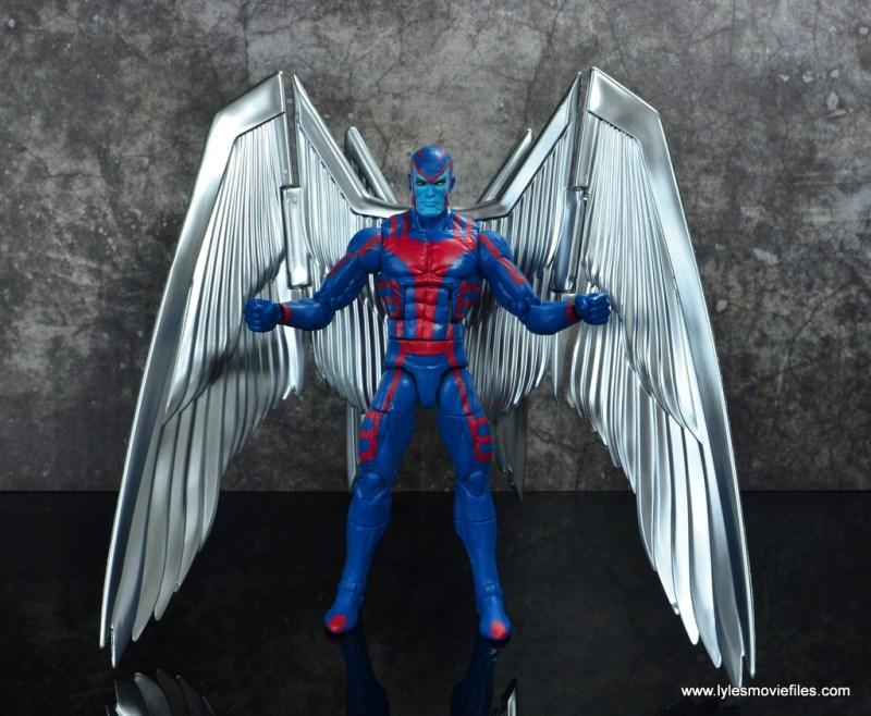 marvel legends archangel figure review - wide shot