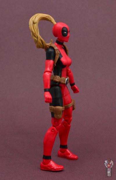 marvel legends lady deadpool figure review - right side
