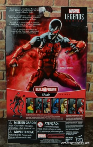 marvel legends scarlet spider figure review - package rear
