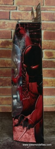marvel legends scarlet spider figure review - package side