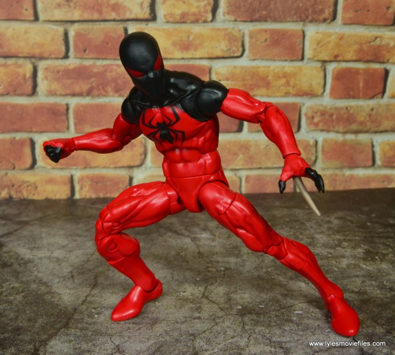 marvel legends scarlet spider figure review - ready to attack