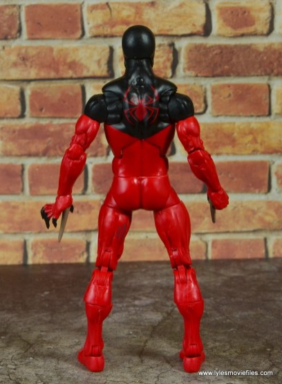marvel legends scarlet spider figure review - rear