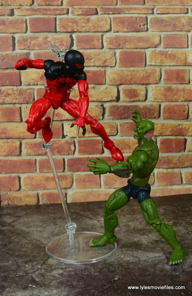 marvel legends scarlet spider figure review - vs jackal