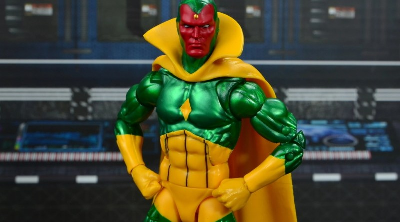 marvel legends vision figure review -main pic