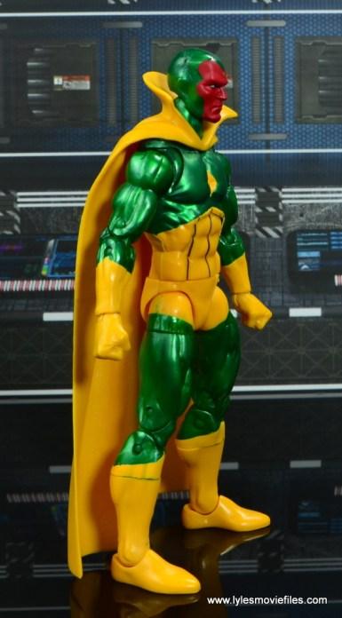 marvel legends vision figure review -right side