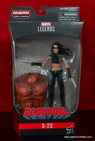 marvel legends x-23 figure review - package front