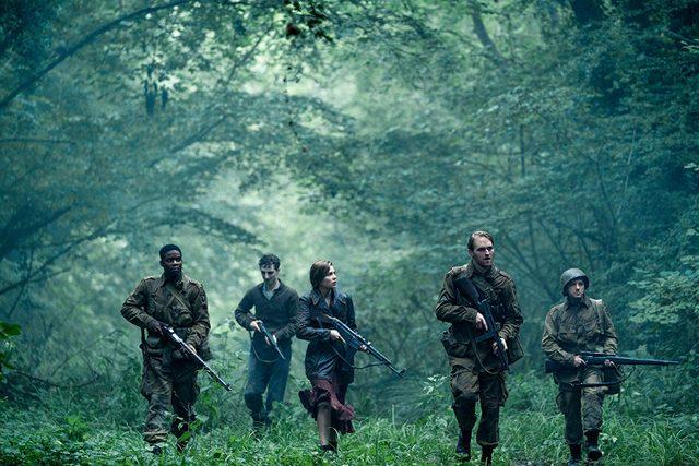 overlord movie review - jovan adepo, dominic applewhite, mathilde ollivier, wyatt russell and john magaro