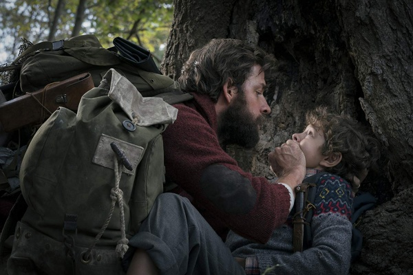 a quiet place review - john krasinski and noah jupe