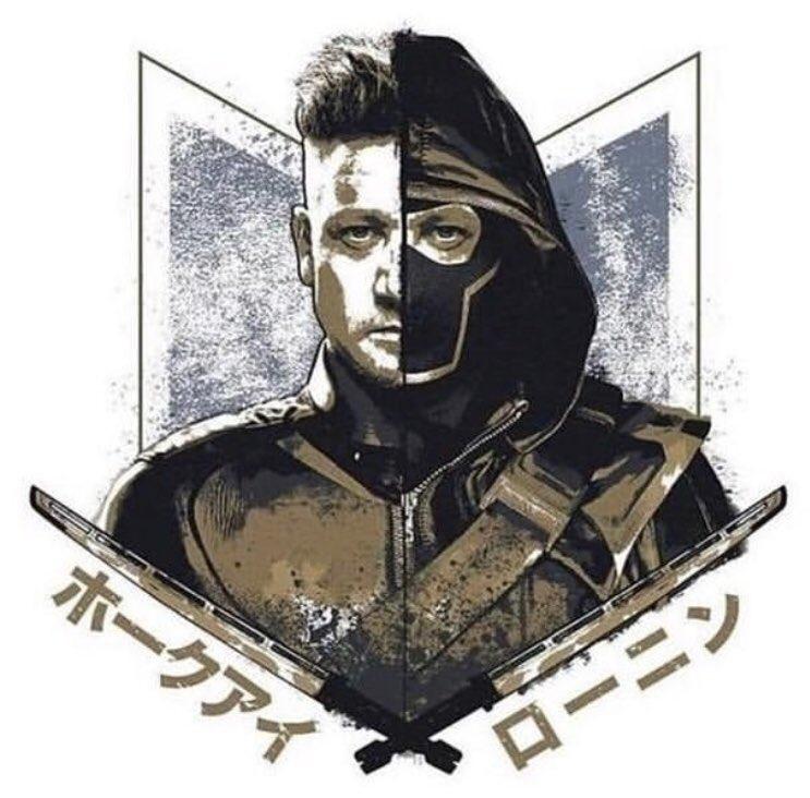 avengers endgame promo art - hawkeye as ronin