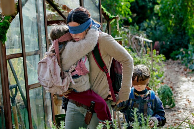 bird box movie review - sandra bullock as malorie