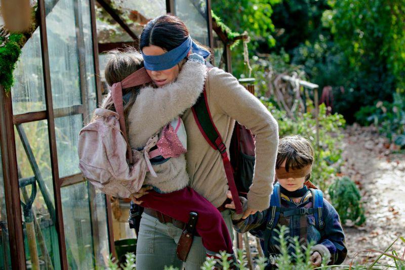 bird box movie review - sandra bullock as malorie
