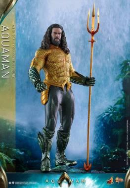 hot toys aquaman figure -standing on rock